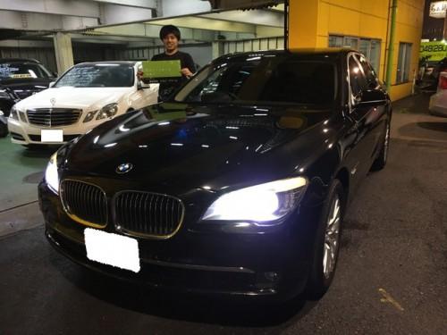 H23y BMW 750I F01 ご納車