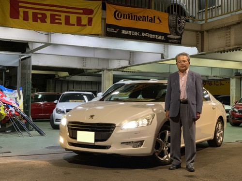 H24y Peugeot 508 Griffe ご納車