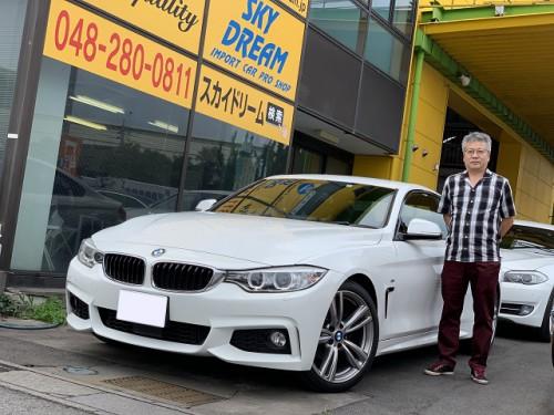 H26y BMW 420i F32 M sport PKG. ご納車