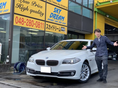 H26y BMW 523d F10 Luxury 軽油 ご納車